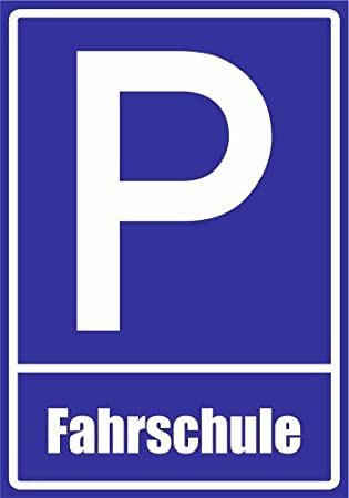 Fahrschule Kiwistar Parkplatzschild 21 x 15cm Alu Verbund kein PVC!