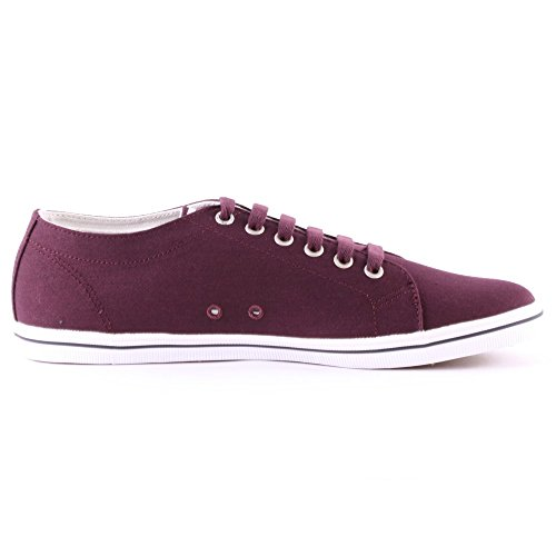 Fred Perry Kingston Twill Mahoganyl B6259799, Baskets Mode Homme