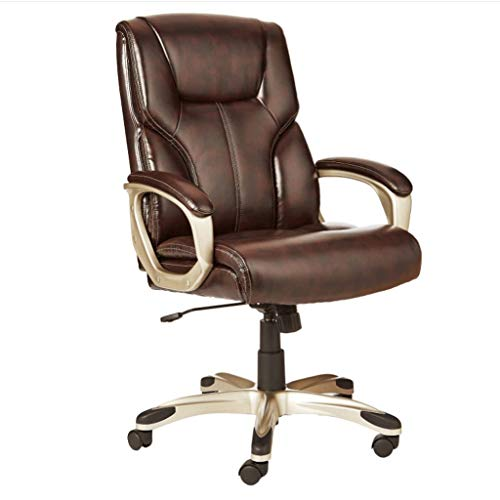 Zcx Swivel Chair/Computer Lounge Chair/Home Office Desk Chairs/High-Back Executive Swivel Chair – Black (Color : Brown)
