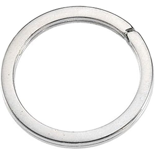 925 Sterling Silver 29mm Round Split Ring Flat Wire Key Ring Link Charm Holder Connector Sterling Key Ring