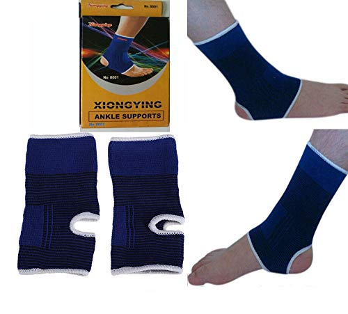 Click.Store 2 Ankle Support Wrap Elastic Brace Sleeve Muscle Arthritis Pain Relief Gym New