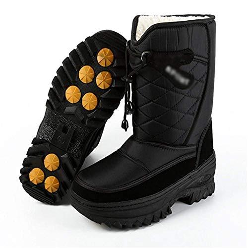 Tamaño 43 Terciopelo De Algodón color 44 Botas Fuxitoggo Negro Prueba A Más Zapatos Acolchado Invierno Antideslizante Agua Hombre Nieve ZYa5xaH