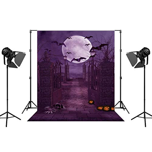 Halloween Backdrops for Photography Scary Tombstone Ghost Background 5x7ft Horror JackoLantern Devil Halloween Backdrop Decorations Hallowmas Party Supplies Halloween Photo Backdrop Studio Banner