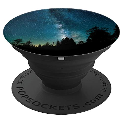 Milky Way Starry Sky Over Forest - PopSockets Grip and Stand for Phones and Tablets ()