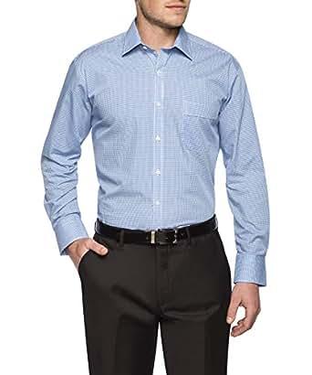 Van Heusen Classic Relaxed Fit Business Shirt, Navy, 38 86