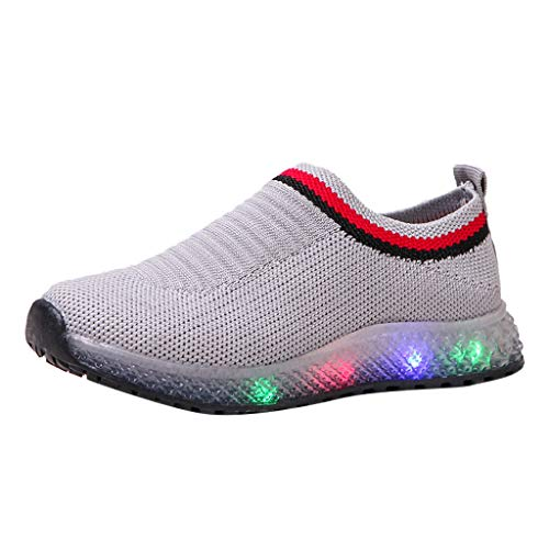 Boys Girls Sneakers,Londony Kids Breathable LED Light Up Flashing Sneakers for Children Shoes(Toddler/Little Kid/Kids)