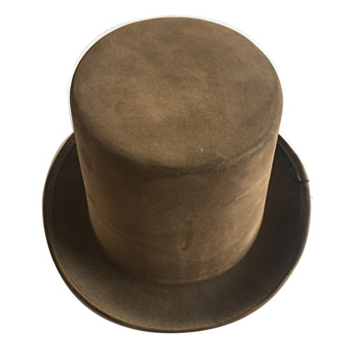 Brown Circus Faux Leather Steampunk Top Hat]()