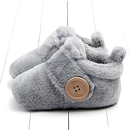 Lovely Warm Design Baby Girls Boys Toddler First Walkers Baby Shoes Soft Slippers Cute Shoes Winter Non-Slip Baby Warm Shoes 13-18months/_13cm, Blue