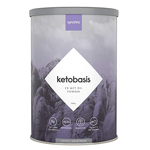 Synchro Ketobasis – C8 MCT Oil Powder – 100% Coconut Sourced – 0g Net Carbs – NO Dairy, NO Additives – C8 Caprylic MCT Ketones