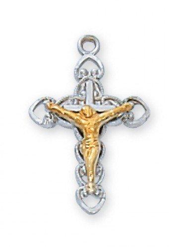 Ss Tutone Crucifix 16Chain