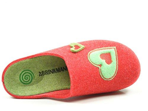El Dr. Brinkmann Ladies Slipper Red 320499-4 Rojo