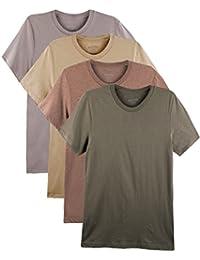 4 Pack Bolter Men's Everyday Cotton Blend Short Sleeve T-shirt