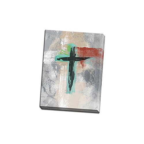 Contemporary Cross III Printed on 12x16 Canvas Wall Art Decor by Linda Woods