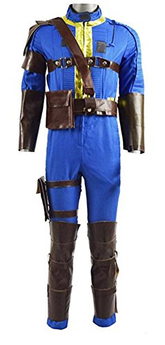 Xiao Maomi Mens Handsome Blue Outfit Jumpsuit Cosplay Suits Game Costume Jumpsuit For Halloween (Mens-XS, Blue) (Fallout Halloween Costume)