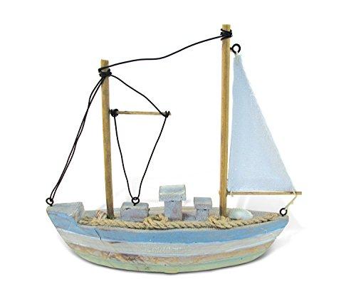 (CoTa Global Ocean Breeze Morgan Sailboat Replica Nautical Quality Wooden Art Decorative Aquatic Ocean Theme Artistic Marine Decor Rustic Finish Wood Small Ship Collection Mini Yacht Table Top Accent )