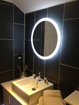 """Halo Rond"""" Miroir Lumineux LED Evalué IP44 Approprié pour salle"""