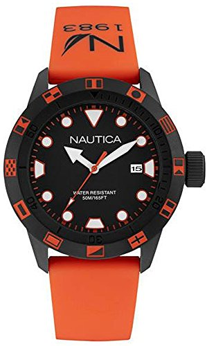 - Nautica nsr 100 Flag Mens Analog Japanese Quartz Watch with Rubber Bracelet NAI10077G