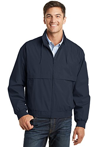 Port Authority Men's Classic Poplin Jacket XL Dark Navy/Dark (Classic Jacket)