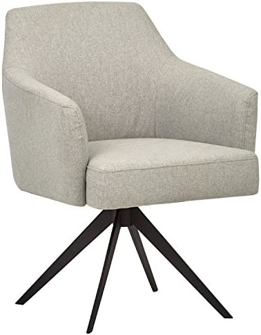 "Amazon Brand – Rivet Mid-Century Swope Curved Arm Swivel Office Chair, 26""W, Felt Grey"