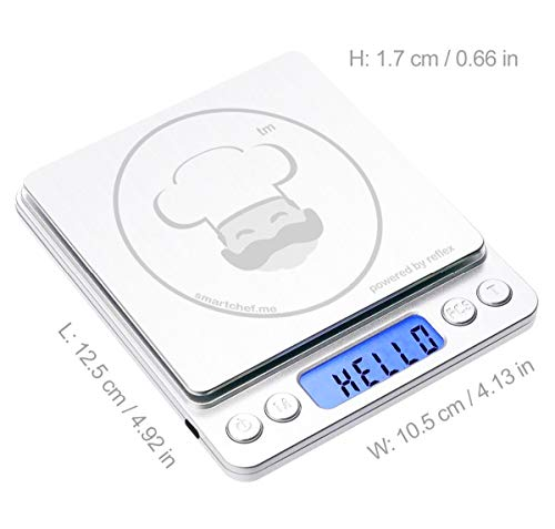 reflex 500g / 0.01g Digital Pocket Wireless smart food kitchen Scale grams and ounces USB rechargeable, portable… 6