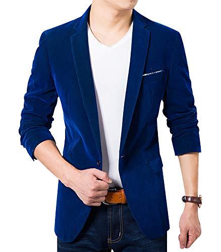 Men's Blazer Jacket Corduroy Sport Coat Smart