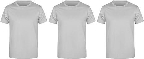 Guuja Pack de 3 Camisetas básicas para Hombre con Cuello ...