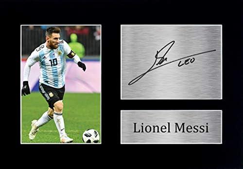 HWC Trading Lionel Messi A4 Ungerahmt Signiert Gedruckt Autogramme Bild Druck-Fotoanzeige Geschenk Für Argentina Barcelona Fußball Fans