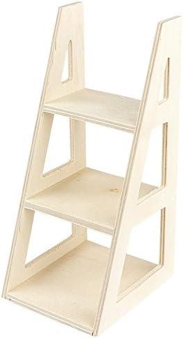 Escaleras de estante de madera, 16 cm x 7 cm x 8 cm, muñeca Estantería para, artículo decorativas pequeñas: Amazon.es: Hogar