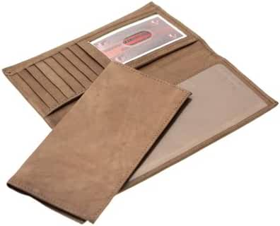 Paul & Taylor Genuine Leather Men Or Women Checkbook Wallet With A Removable Checkbook Cover