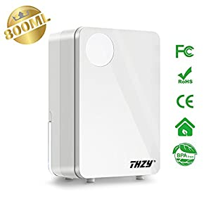THZY 800ML Small Thermo-electric Semiconductor Dehumidifier,Compact and Portable Quiet Dehumidifier for Closet,Bedroom,Bathroom,Basement and Small Home Office (White)