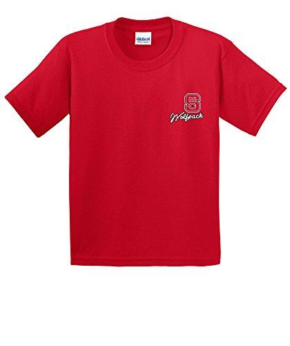 NCAA North Carolina State Wolfpack Girls Cheer Loud Short Sleeve Cotton T-Shirt, Youth ()