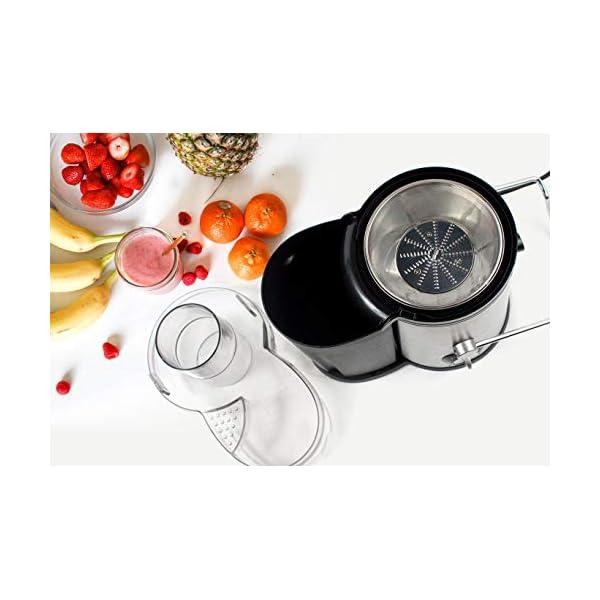 PRIXTON - Estrattore Frutta Verdura/Centrifuga Frutta e Verdura Professionale/Estrattore di Succo a Freddo, 600W, Lame… 7 spesavip