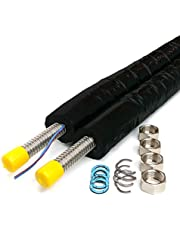 DN16–Tubo solar, cable solar acero inoxidable tubo corrugado aislado, doble tubo solar, 5m, 10m, 15m, 20m, 25m