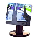 Desk and Cubicle Mirror to See Behind You, CONICAL Shaped Magnetic Cellphone Stand with Detachable Wide Angle Real Glass Mirror, Beautiful Design, Perfect Curvature for an exceptionally Clear View