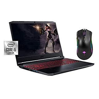 "2020 Newest Acer Nitro 5 15.6"" FHD Gaming Laptop, 10th Gen Core i5-10300H(Beat i7-8559U), NVIDIA GeForce GTX 1650 4GB, Backlit KB, 8GB RAM, 256GB SSD, Win10 w/GM Gaming Mouse"