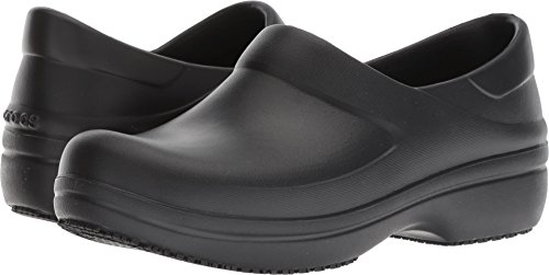Crocs Women's Neria Pro II Clog W, Black, W6 M US -  205384-001-001-W6 M US