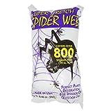 #3: Fun World Super Stretch Spider Web for Halloween Indoor/Outdoor Decoration 8.4 oz 800sqft