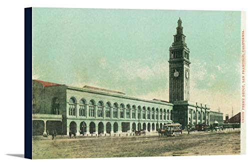 San Francisco, California - Exterior View of Union Ferry Depot (18x12 Gallery Wrapped Stretched - Depot Ferry Union