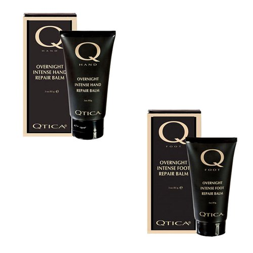 QTICA Intense Overnight Repair Balm Set - Hand & Foot 3oz each