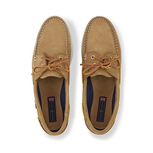 Henri Lloyd Arkansa Deck Shoes - Brown New Buck