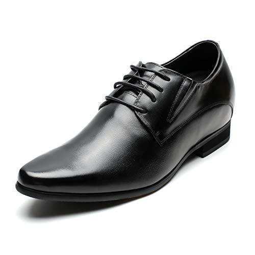 CHAMARIPA Men's Oxford Height Increasing Elevator Shoes 3.15'' Taller H62D11K011D US 9 Black (Elevator Shoes)