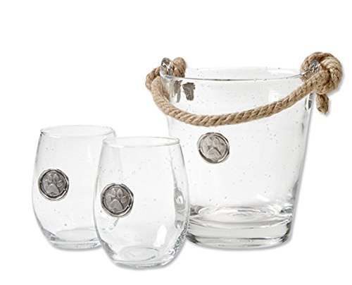 Orvis Two Piece (Orvis Paw Medallion Glass / Only Ice Bucket, ,)