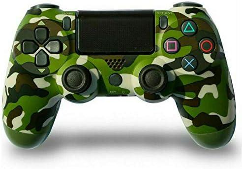PS4 Famepad, PS4 Wireless Bluetooth Gamepad, Vibrante con Pantalla táctil Jack para Auriculares de Seis Ejes (Camuflaje Verde)