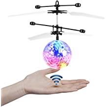 Etpark RC Flying Ball Crystal Flashing LED Light Flying ball RC Toy RC infrared Induction Helicopter for Kids, Teenagers Colorful Flyings for Kid's Toy