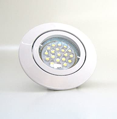 3er-Set LED Einbaustrahler PAGO 230V Farbe austauschbarem LED-Leuchtmitte in Warm-Wei/ß Edelstahl geb/ürstet inkl