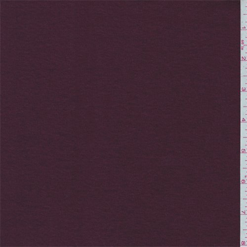 Burgundy Cotton Fabric (Burgundy Cotton Rib Knit, Fabric By the Yard)