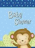 Boy Monkey Baby Shower Invitations, 8ct