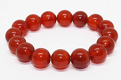 Genuine Carnelian Bracelet, 12mm Genuine Red Carnelian Bead Bracelet, Energy Jewelry, Mens or Womens Bracelet,Stretch Bracelet Jewelry Gifts