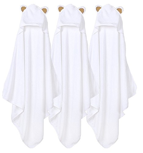 100% Bamboo Hooded Baby Towel Swaddlers Wrap Newborn - Washcloth White Crib Hood Blanket for infant Toddler Kids Girl Boy|Bathtub Bubble Outfit Suit Set|Hoodie Shower Swaddle Set for (Gingham Baby Blanket)