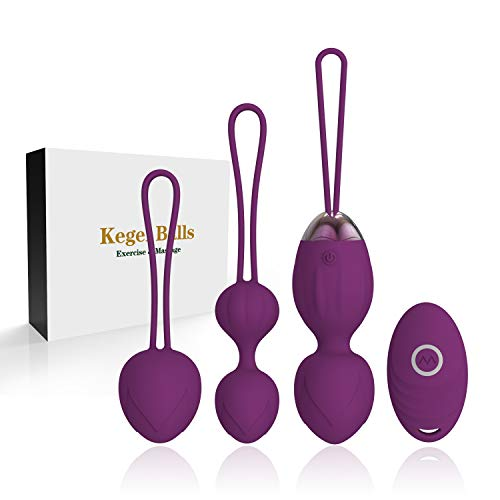 Jintrun 2 in 1 Kegel Exercise Weights & Massage Ball Ben Wa Balls Kegel Balls Beginners & Tightening- Doctor Recommended for Bladder Control & Pelvic Floor Exercises - Purple